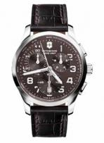 Alliance Large Chrono Brown Dial Brown Leather Strap