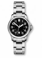 Officer's Small Black Dial Stainless Steel Bracelet