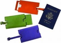 Slideout Privacy Luggage Tag - Synthetic Leather
