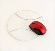 Baseball Mouse Pad - Synthetic Leather
