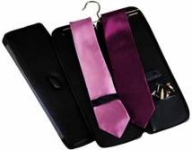 Tie Case With Hanger - Synthetic Leather