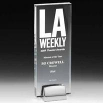 Beveled Award w/Chrome Base
