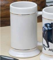 18 oz. Steins With Gold or Platinum Bands