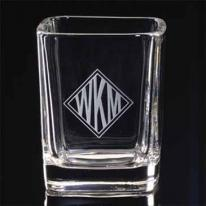 Set of 2, 2 1/4 oz. Square Shot Glass