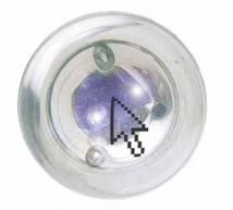 Clear-View Bounce'n Blink Lighted Ball with Two Blue LEDs
