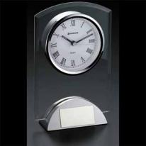 Duchess - Unique Silver Metal Base Clock