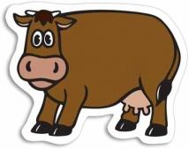 Cow Magnet - .030 Thickness