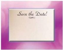 Save The Date - Frame - .030 Thickness