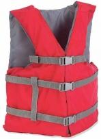 Adult Boating Vest (Life Jacket) W/ Back Imprint