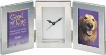Silver Double Frame With Clock