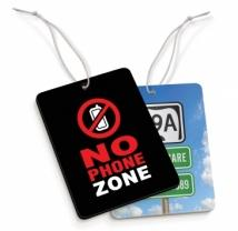 NO PHONE ZONE Paper Scents Rectangle
