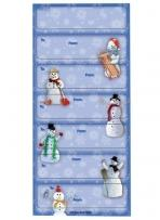 Christmas to/From Stickers - Snowmen