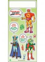 One Color Environmental Stickers - Solar Man