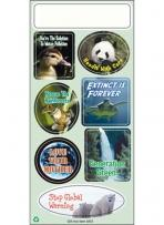 One Color Ecology Stickers - Environment