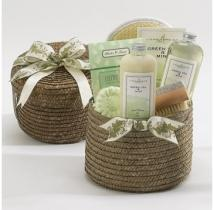 Green Tea & Mint Spa Basket