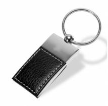 Elegant Key Holder, Faux Leather With Metal Accent