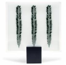 Designer Glass Plate of 'Fern Leaves'