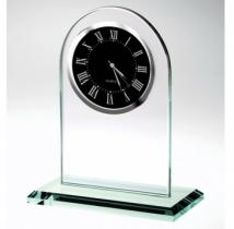 Jade Glass Arch Clock