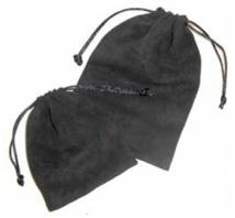 Faux Suede Jewelry Pouch