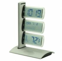 World Time Clock With Thermometer