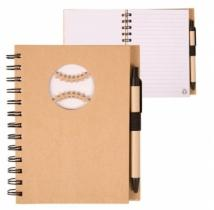 Recycle Die Cut Notebook: Baseball