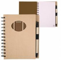 Recycle Die Cut Notebook: Football