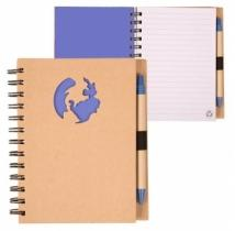 Recycle Die Cut Notebook: Globe