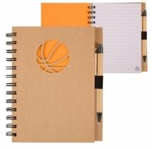 Recycle Die Cut Notebook: Basketball