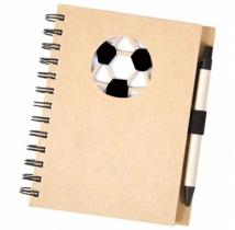 Recycle Die Cut Notebook: Soccer