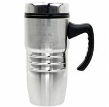 18 oz. Steel City Stainless Mug w/Polished Rings