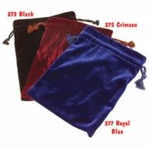 Royal Blue Velvet Drawstring Pouch