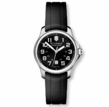 Officer�s Small Black Dial Black Rubber Strap