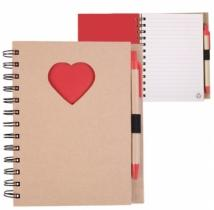 Recycle Die Cut Notebook: Heart