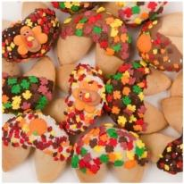 Thanksgiving Dipped & Decorated Gourmet Fortune Cookies