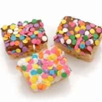 Confetti Chocolate Dipped Mini Krispies�