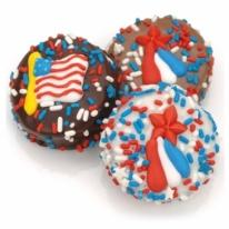 Patriotic Chocolate Dipped Oreos�- Individually Wrapped