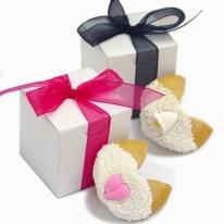 Wedding Fortune Cookies -Individually Wrapped & Gift Boxed W