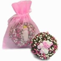 New Baby Girl Oreo� Cookies- 1/Organza Bag