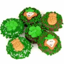 Belgian Chocolate St. Patrick's Day Oreos�