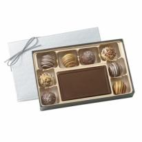 Custom Chocolate Mold With Filled Truffles Gift Box
