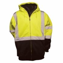 High Visibility Hooded Soft Shell Sweatshirt