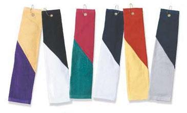 16 X 26 Hemmed 1-ply Velour Two-tone Sport Towel Tri-folded