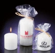 Softly Scented, White Pillar Candles
