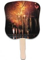 Stock Design Hand Fan - Fireworks