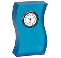 Frosted Blue Acrylic Wave Desk Clock