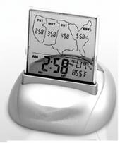 Atomic Alarm Clock/Date, Temp & Time in 4 US Time Zones