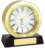 Brass Coin Shaped Alarm Clock