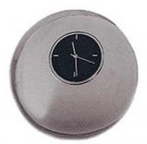 Sleek New Mini Silver Circular Desk Clock