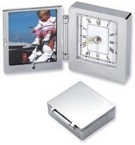 Foldable Analog Clock With Picture Frame