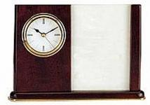 Elegant Piano Wood Clock With Picture Frame